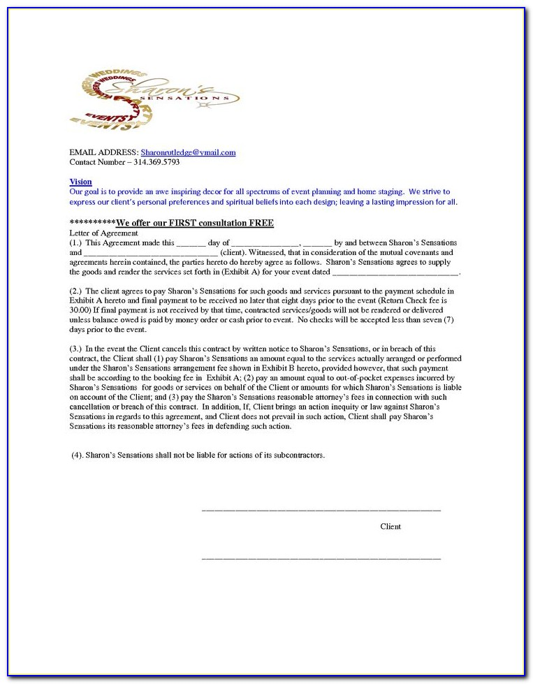 Home Staging Contract Template