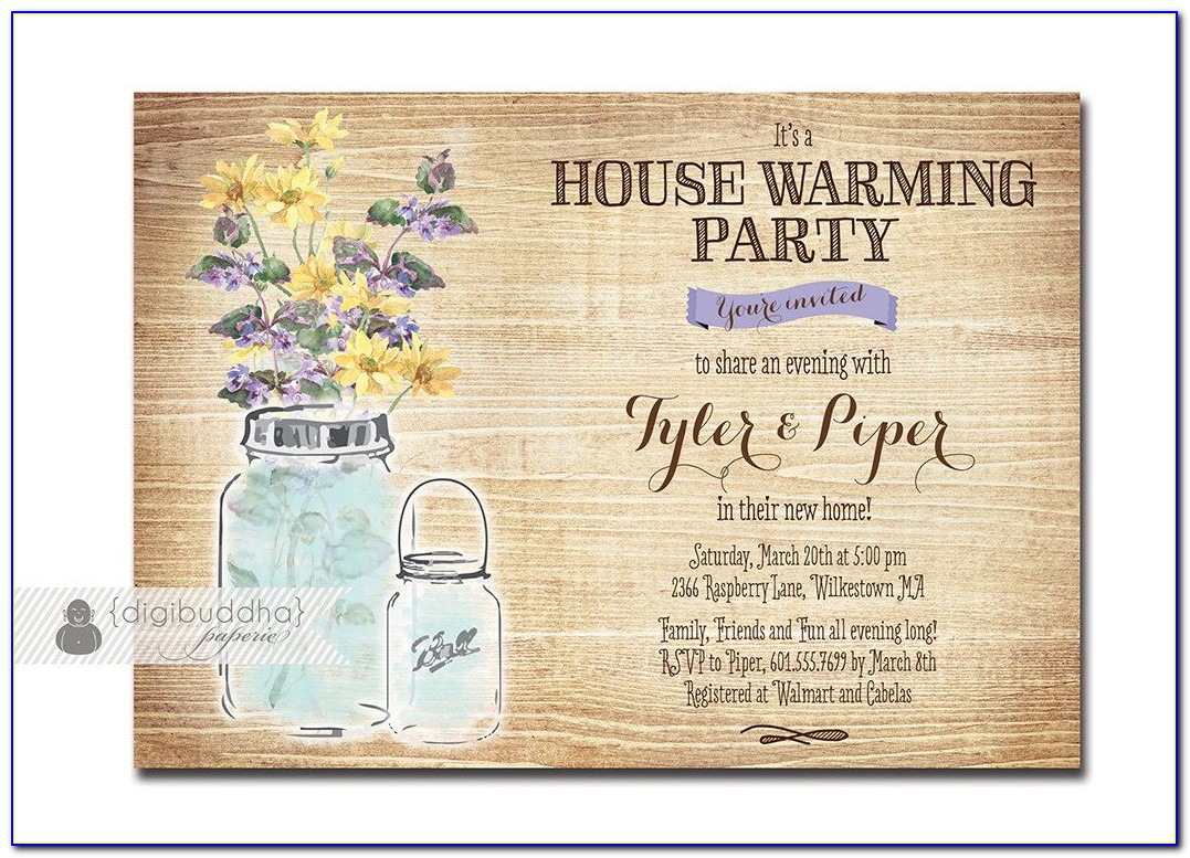House Warming Ceremony Invitation Cards In English