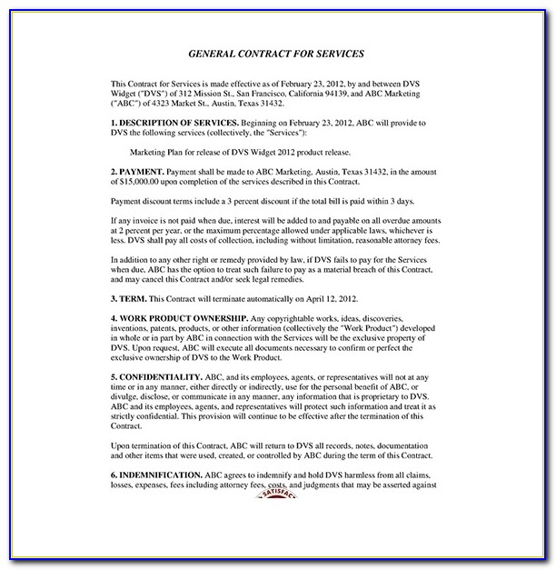 Service Contract Template – 10+ Free Word, Pdf Documents Download For Service Contract Template