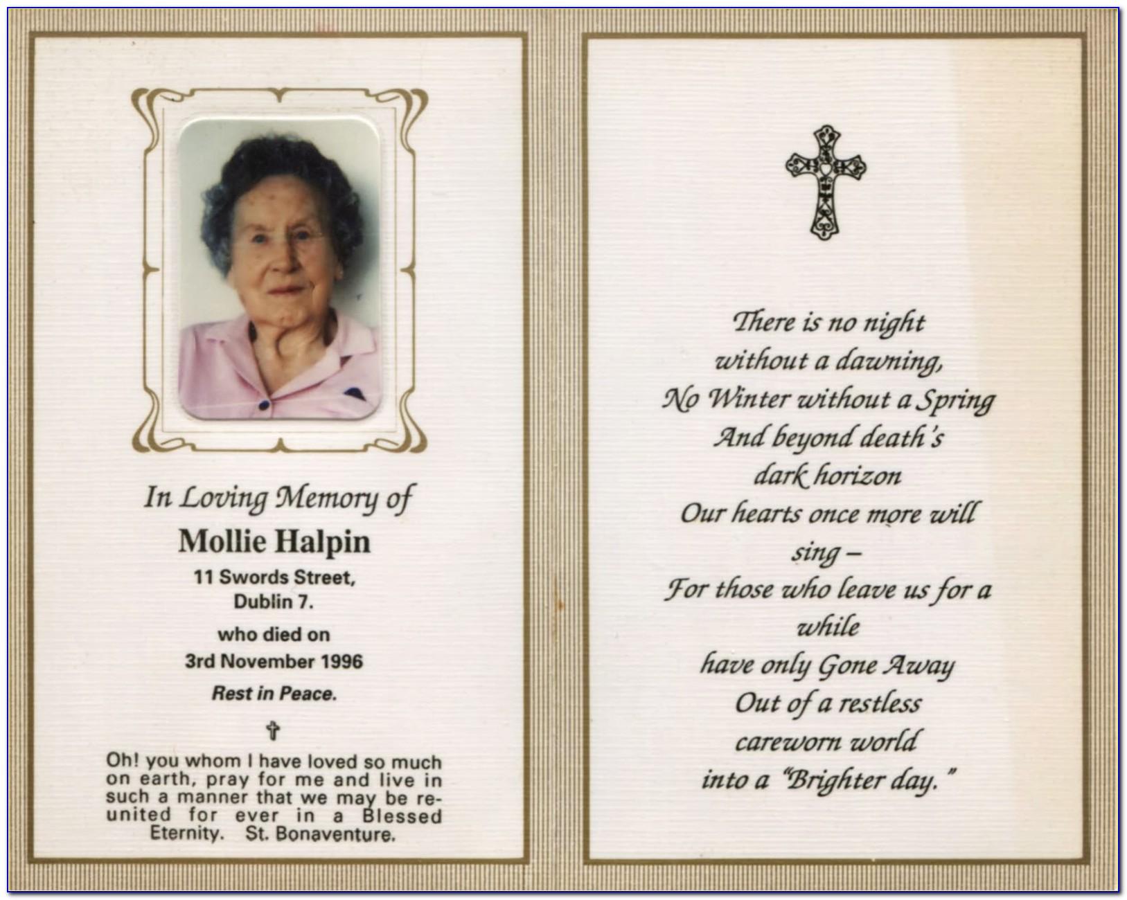 In Memoriam Cards Template