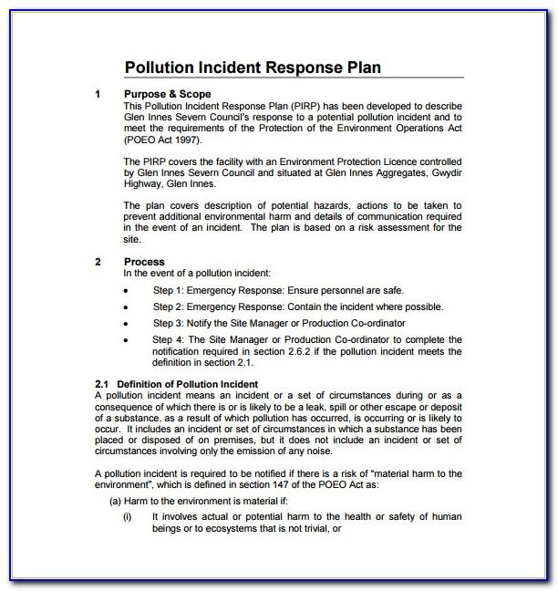 Incident Response Plan Template Nist