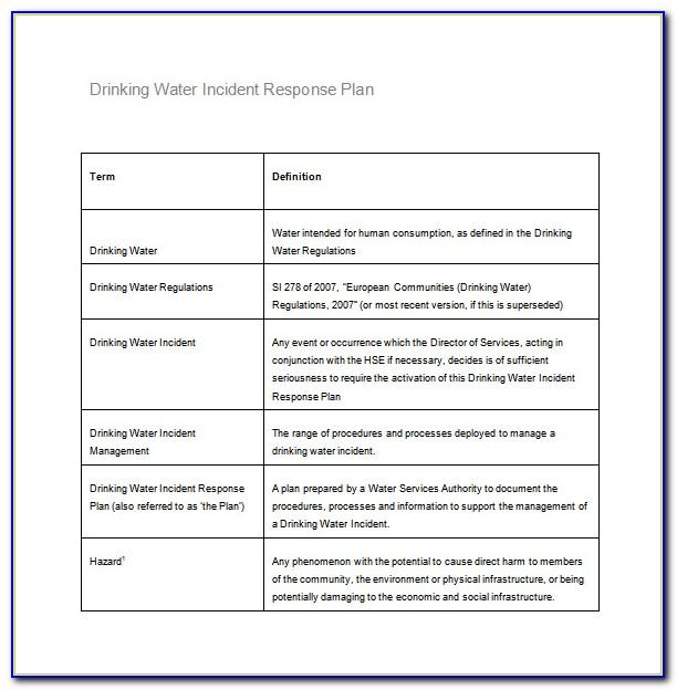 Incident Response Plan Template Pdf
