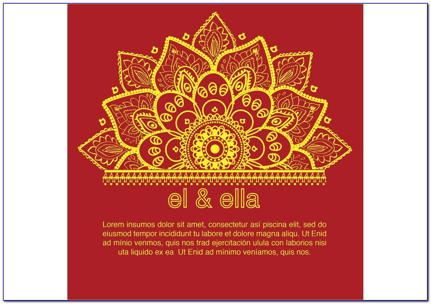 Indian Wedding Invitation Card Template Photoshop
