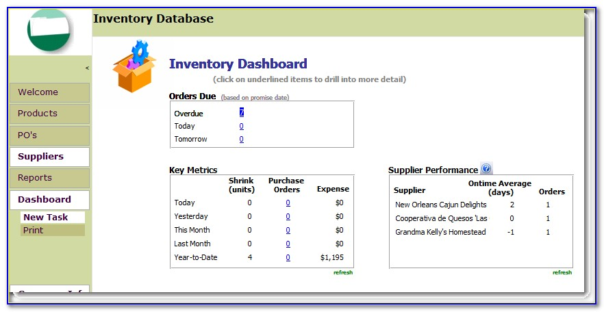 Inventory Management Access Database Template