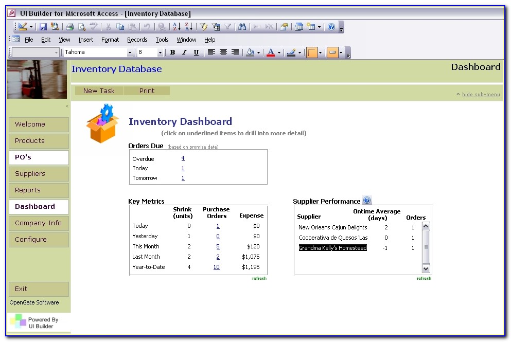 Inventory Management System For Small Business In Access Templates