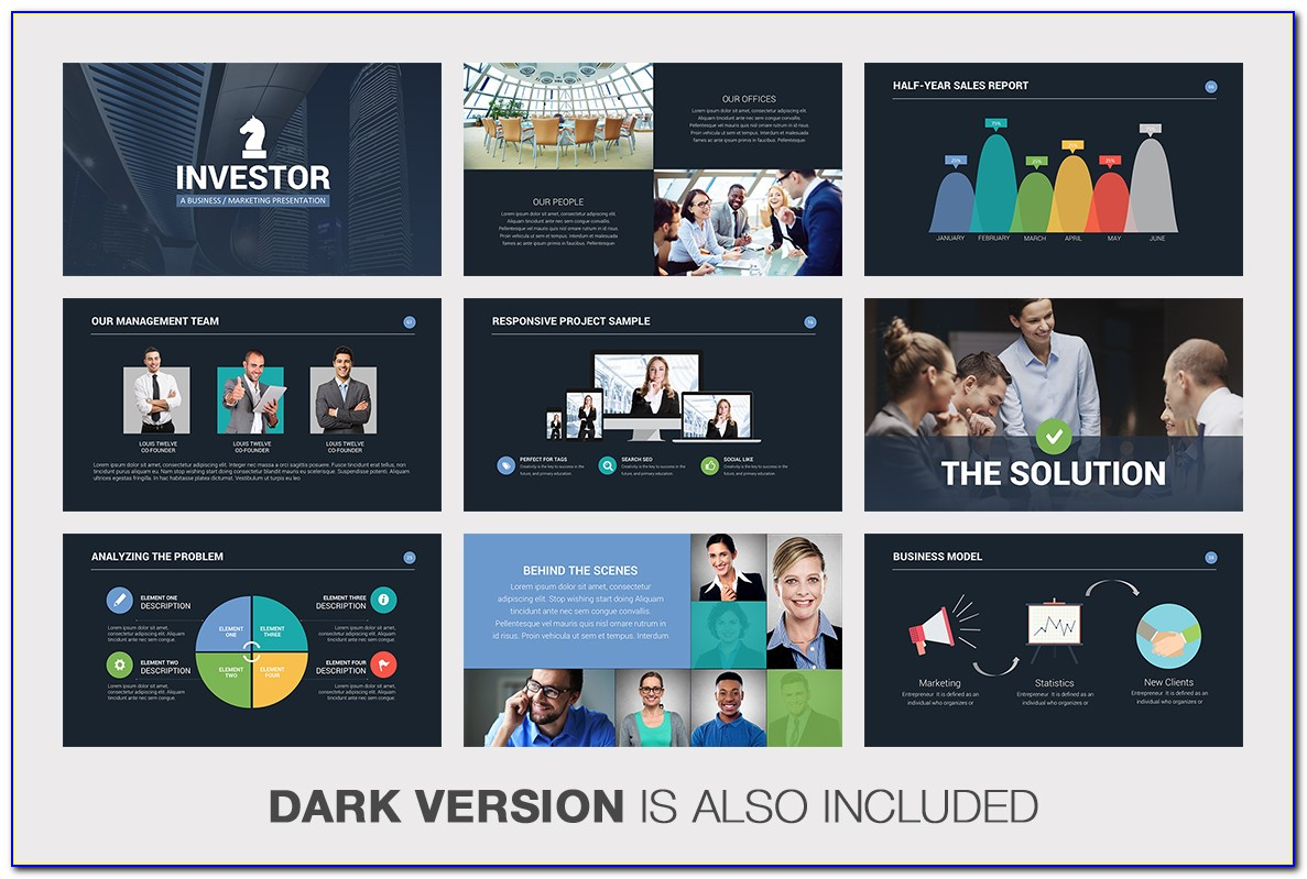 Investor Pitch Deck Powerpoint Template Dow