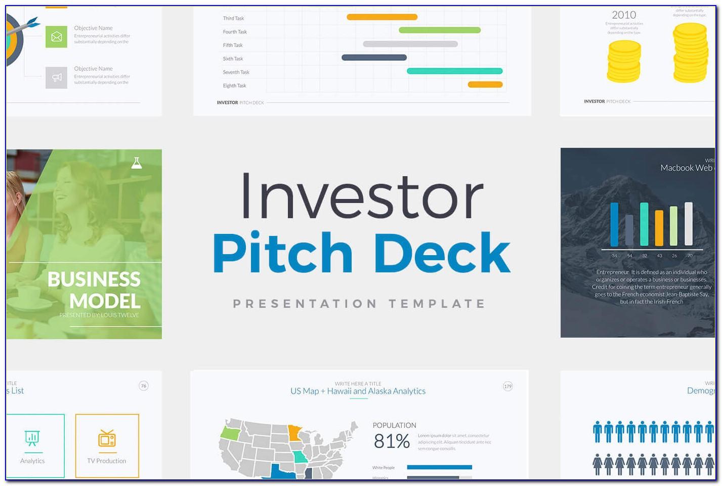 Investor Pitch Deck Template Pdf