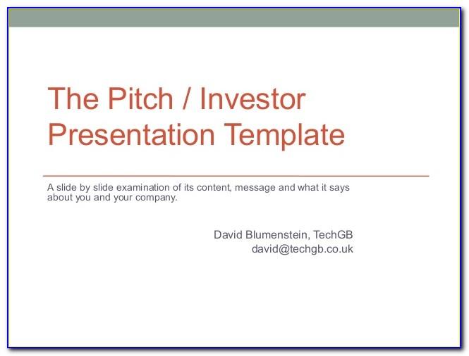 Investor Pitch Deck Templates