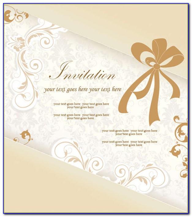 Invitation Card Free Template Psd