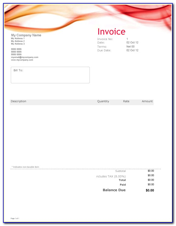 Invoice Business Template Excel Free