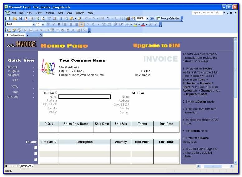 Invoice Format Canada