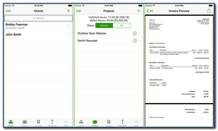 Invoice Template For Iphone Free