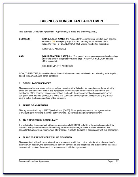 It Consulting Contracts Templates