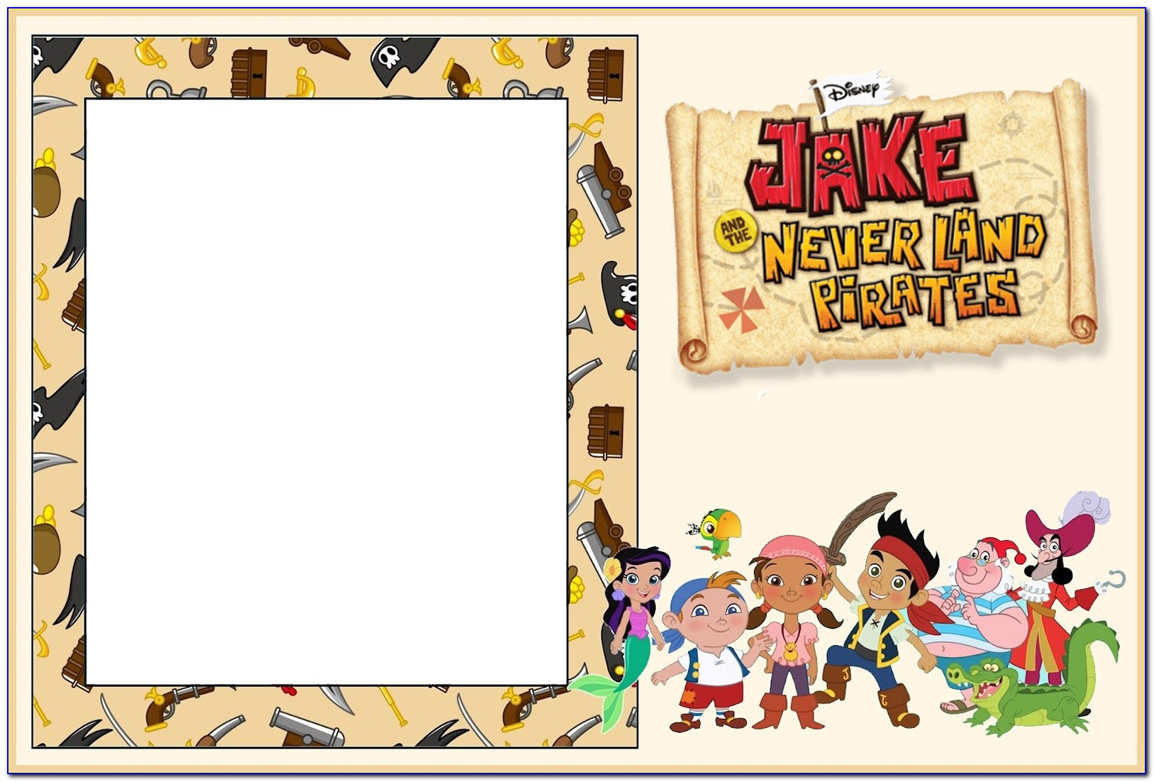 Jake And The Neverland Pirates Birthday Invitation Template Free