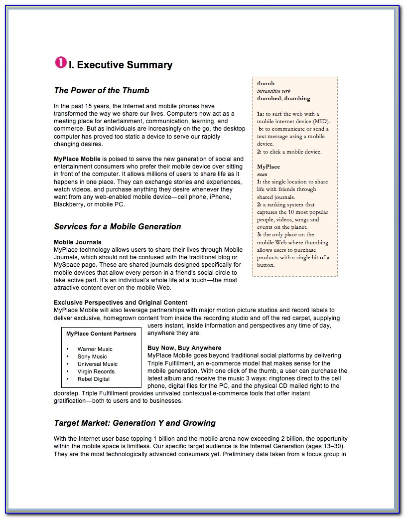 Fashion Business Plan Sample Jewelry Business Plan Template
