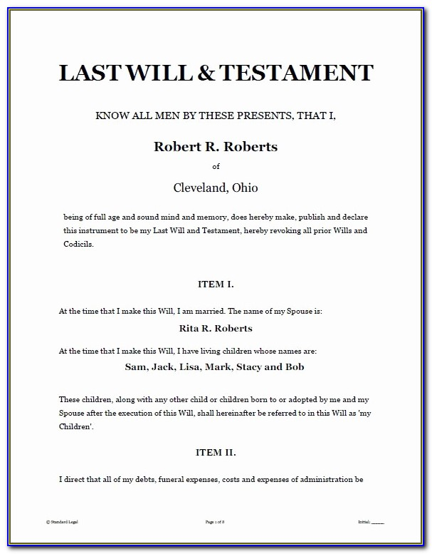 Last Will And Testament Template Texas Sample 17 Best Last Wills And Testaments Images On Pinterest