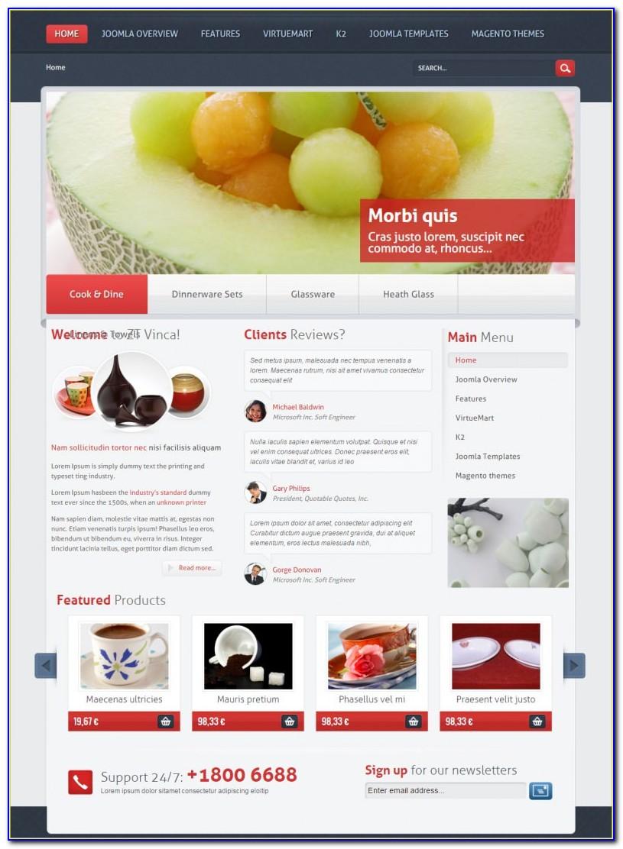 Joomla Shopping Cart Template Free Download