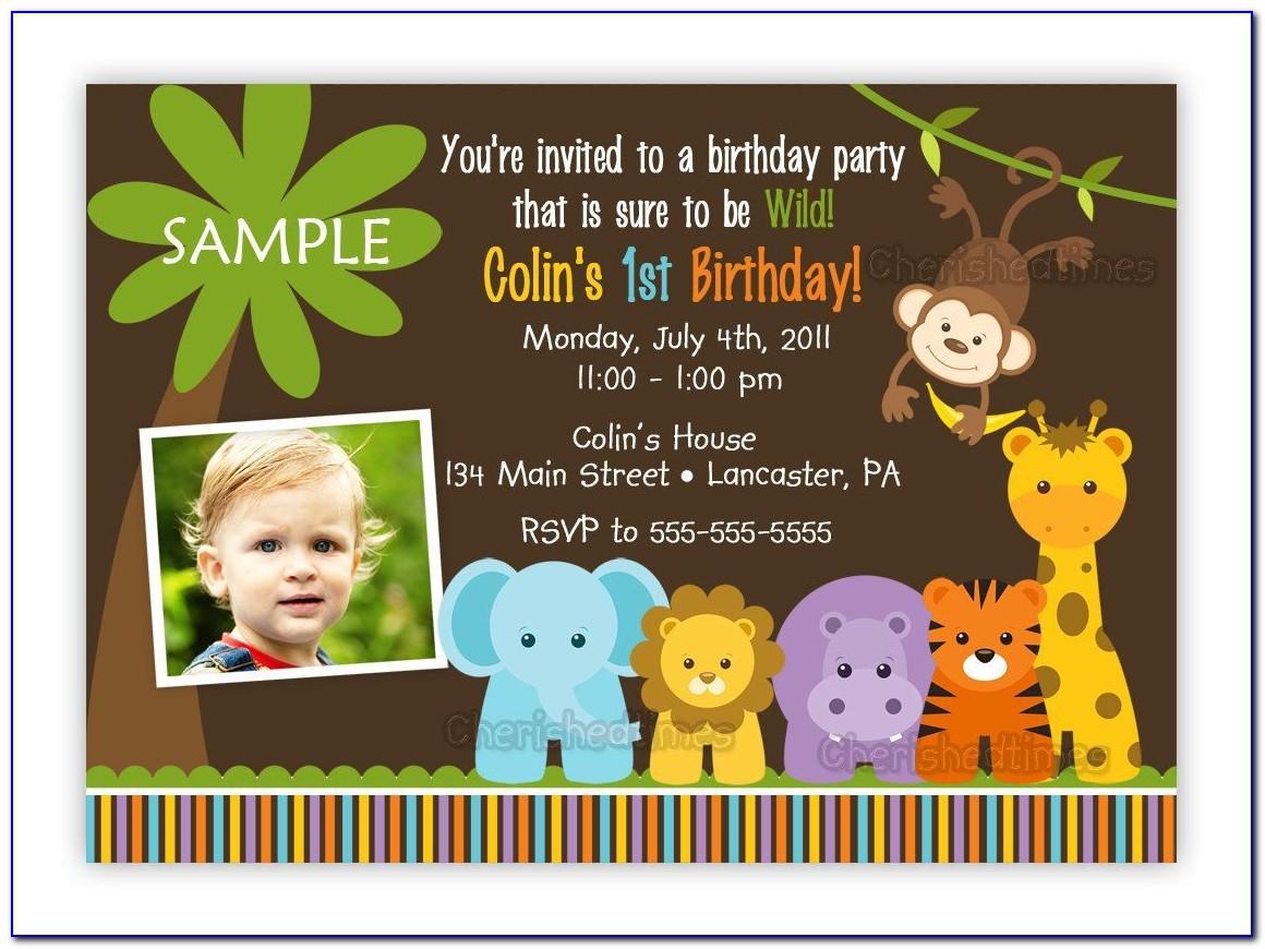 Jungle Safari Birthday Invitation Template