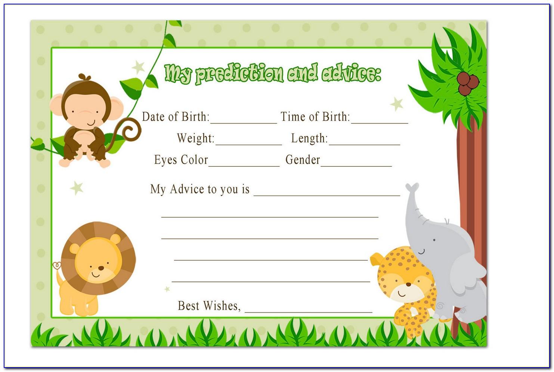 Jungle Safari Invitation Template