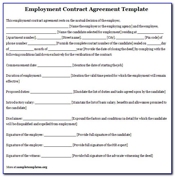 Labour Contract Template