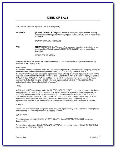 Land Deed Document