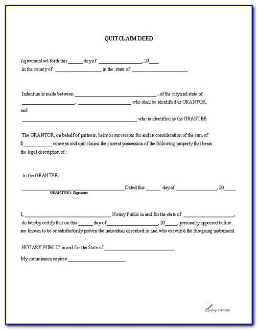Land Transfer Deed Template