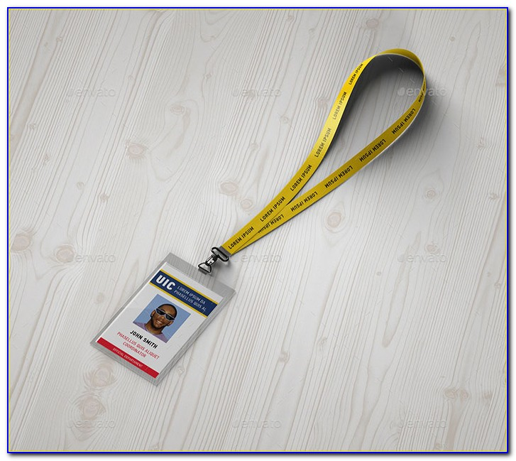 Lanyard Badge Holder Template
