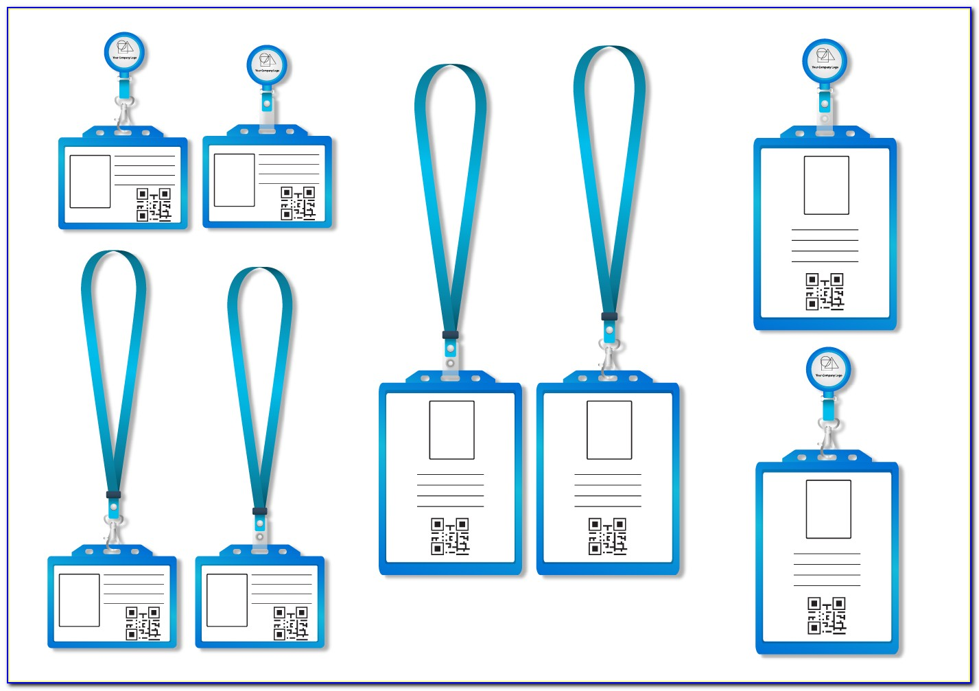 Lanyard Id Badge Template