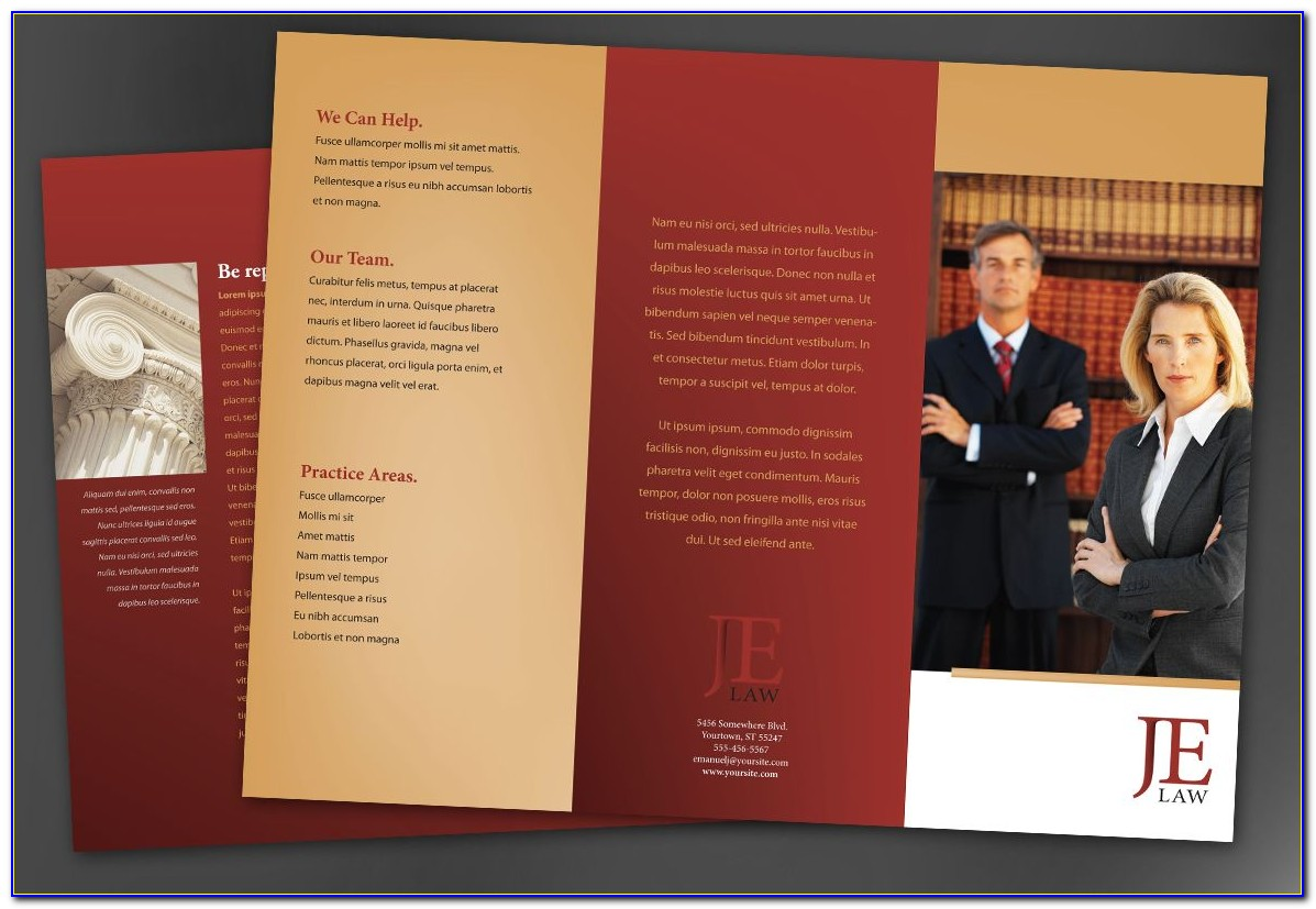 Law Firm Brochure Template Free