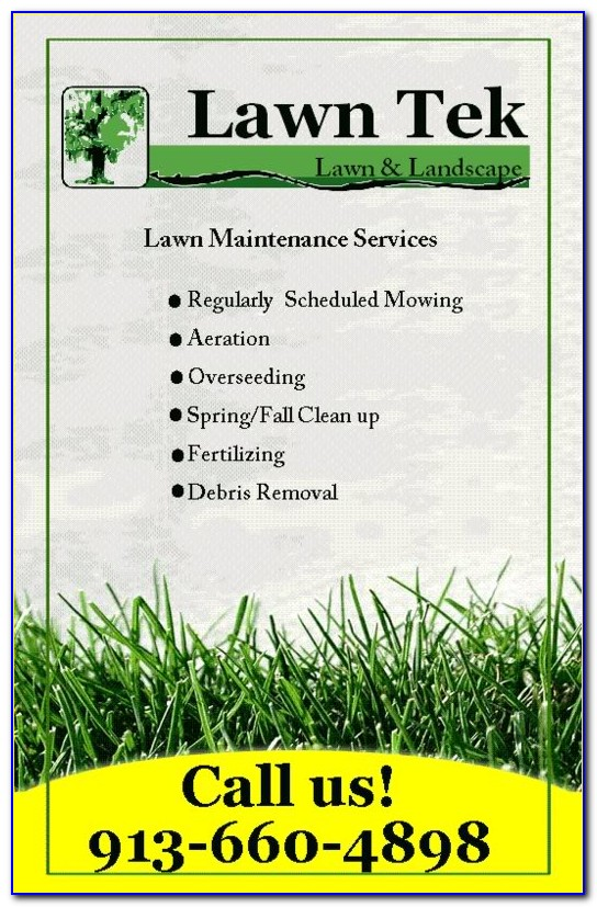 Lawn Care Brochure Template