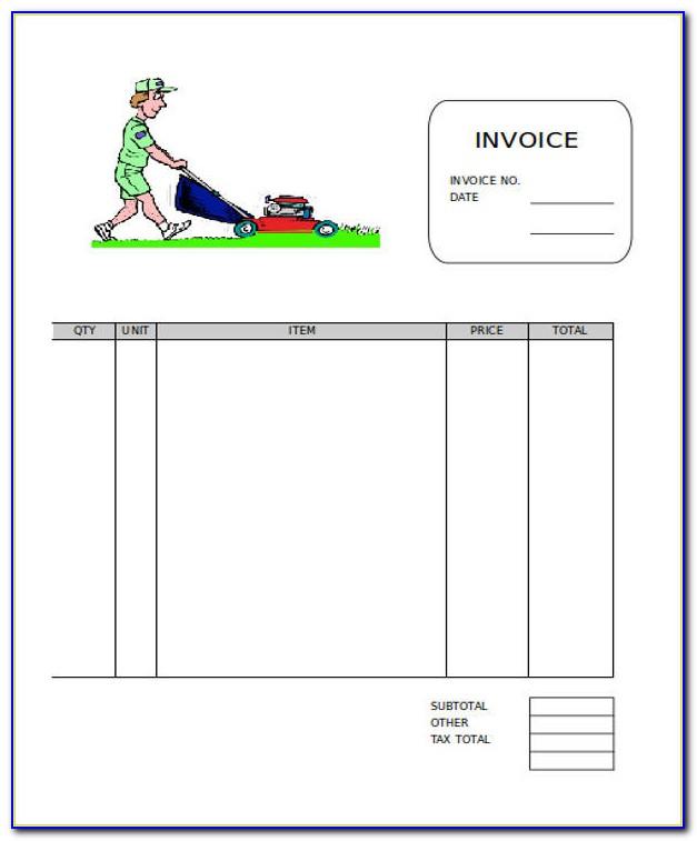 Lawn Care Invoice Template Microsoft Office
