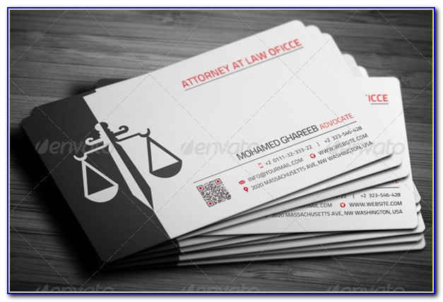 Lawyer Business Card Template Psd