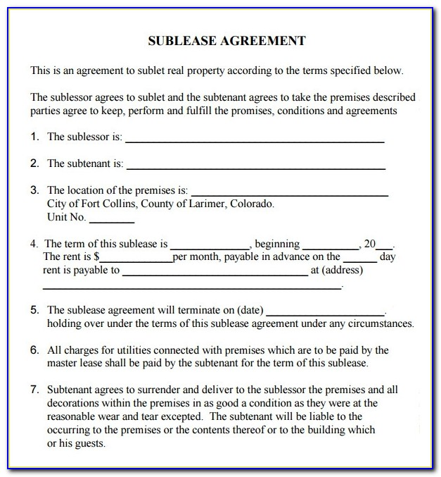 Lease Contract Sample Free