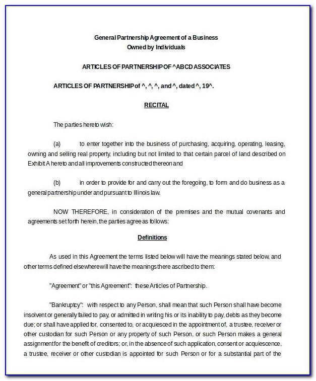 Limited Liability Partnership Agreement Sample Malaysia