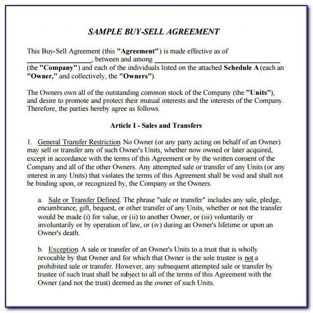 Llc Member Buyout Agreement Form