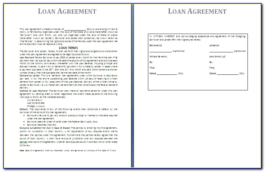 Business Loan Agreement Template Free Free Business Template Business Loan Agreement Template Free
