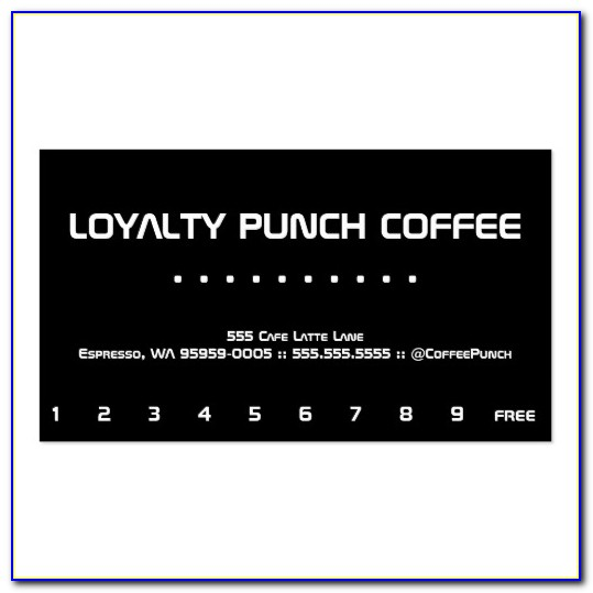 Loyalty Card Template Psd Free