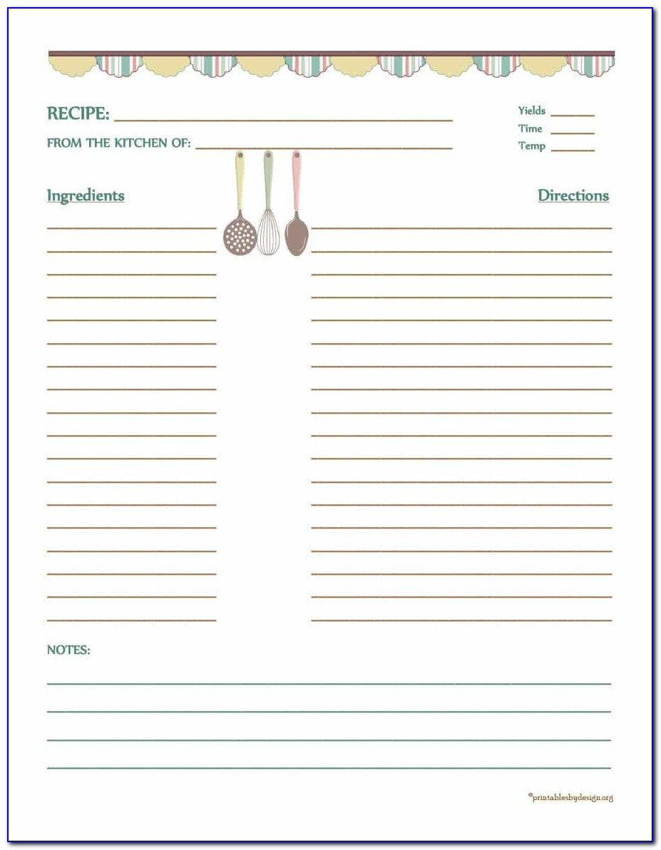 Mac Pages Cookbook Template