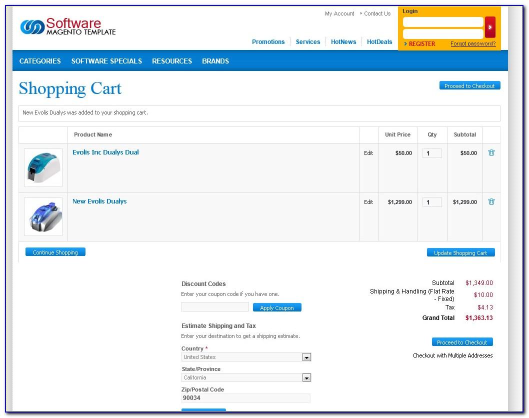 Magento Shopping Cart Template
