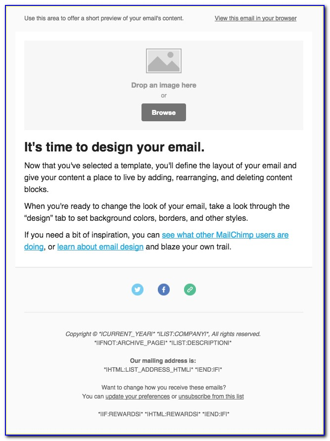 Mailchimp Create Drag And Drop Template