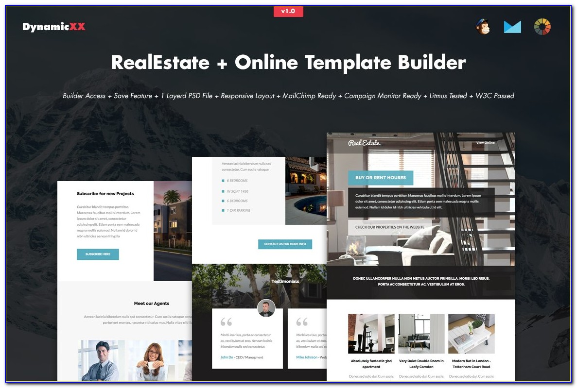 Mailchimp Real Estate Newsletter Templates