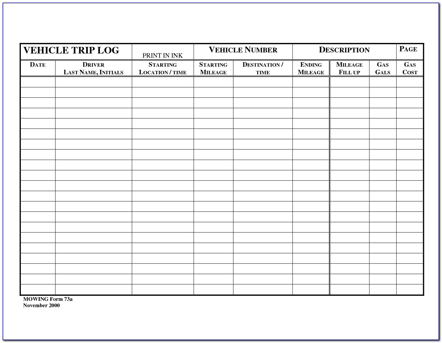 Maintenance Log Book Format