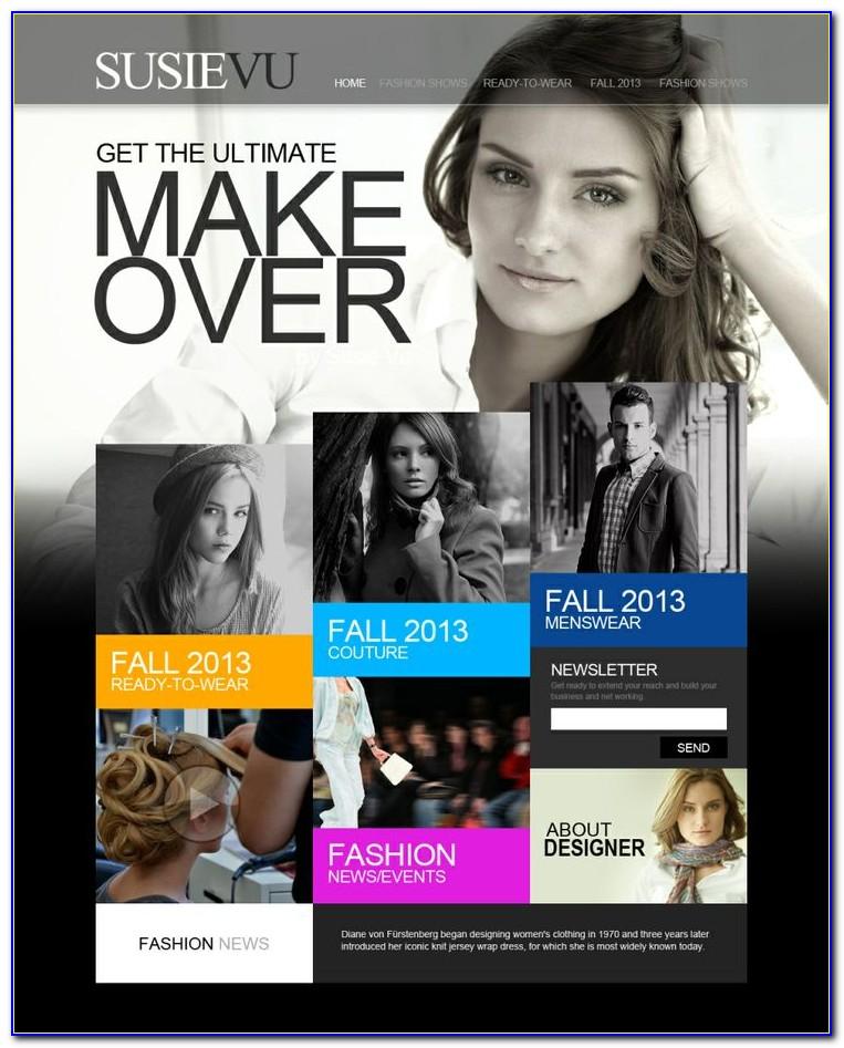 Makeup Artist Website Template Free Download