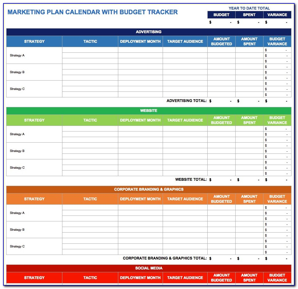 Marketing Campaign Calendar Template Excel