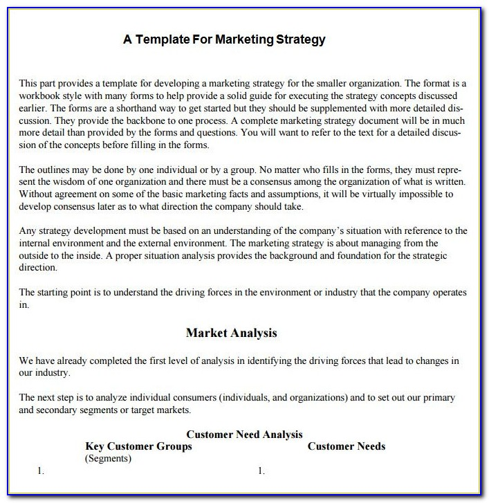 Marketing Strategy Proposal Example