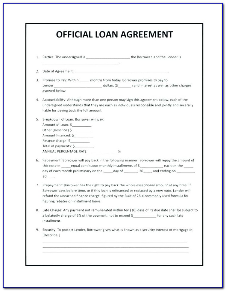Medical Equipment Loan Agreement Template