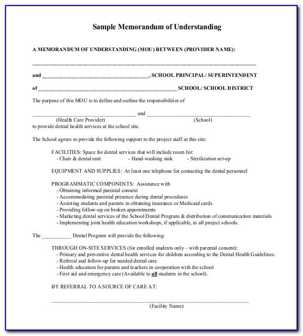 Memorandum Of Understanding Format Free Download