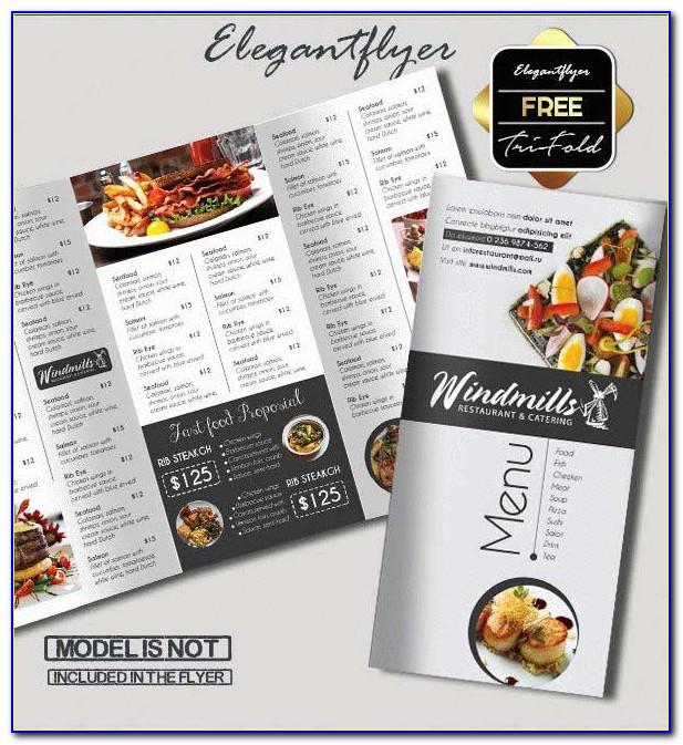 Menu Brochure Format