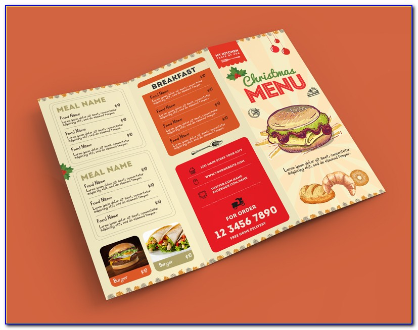 Menu Brochure Template Design