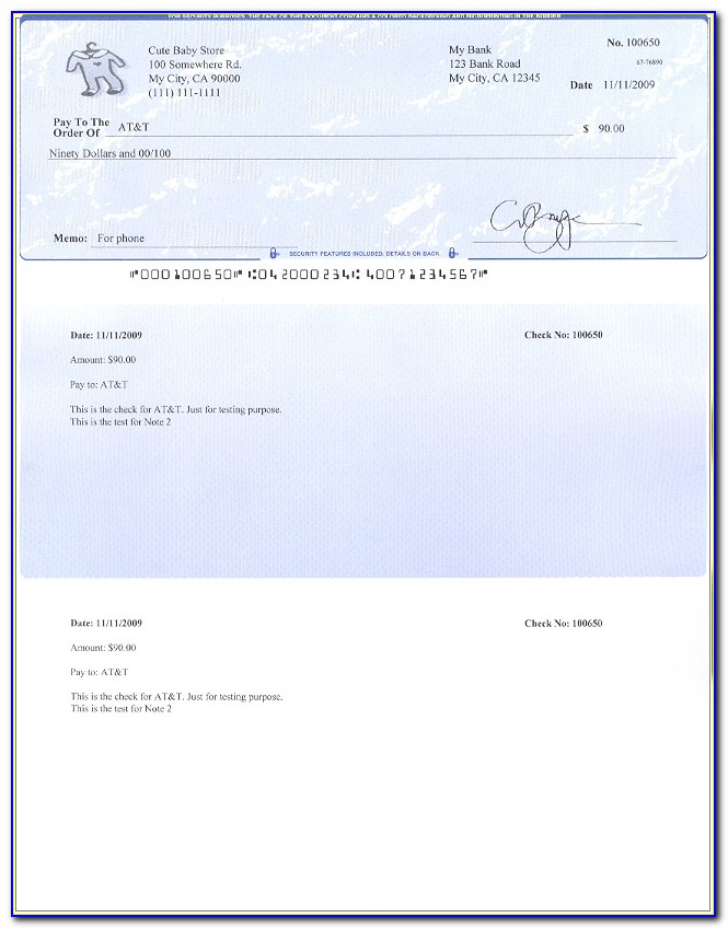 Microsoft Excel Pay Stub Template